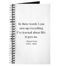 Robert Frost 15 Journal