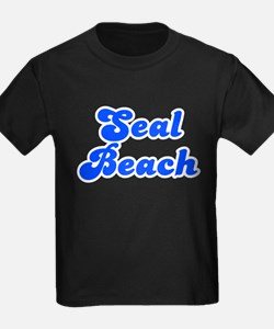 Retro Seal Beach (Blue) T