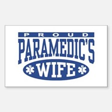 Proud Paramedic's Wife Rectangle Decal