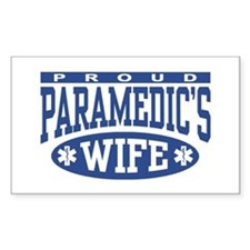 Proud Paramedic's Wife Rectangle Stickers