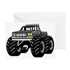 GRAY GREY MONSTER TRUCKS Greeting Cards (Package o