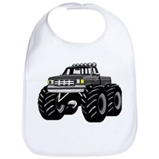 GRAY GREY MONSTER TRUCKS Bib