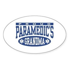 Proud Paramedic's Grandma Oval Stickers