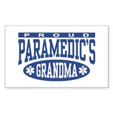 Proud Paramedic's Grandma Rectangle Decal