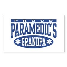 Proud Paramedic's Grandpa Rectangle Decal