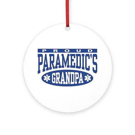 Proud Paramedic's Grandpa Ornament (Round)