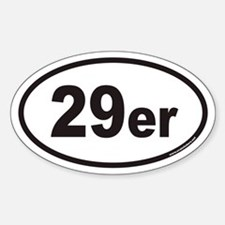 29er Euro Oval Bumper Stickers
