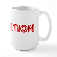 Retro Plantation (Red) Mug