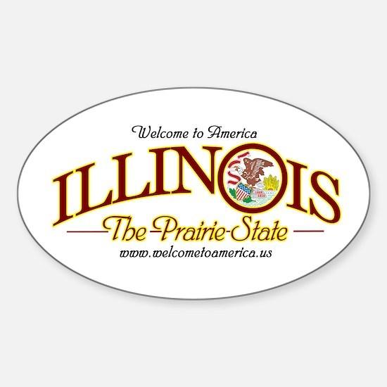 Illinois Oval Decal