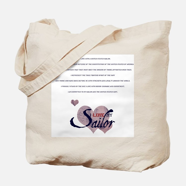sailor's spouse creed Tote Bag