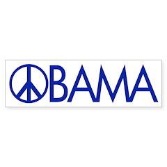 Peace Sign Obama Bumper Bumper Sticker