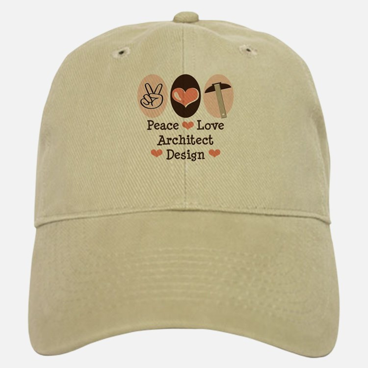 Peace Love Architecture Baseball Baseball Cap