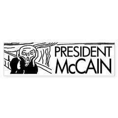 President McCain Scream Bumper Bumper Sticker