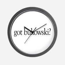 got bukowski? Wall Clock