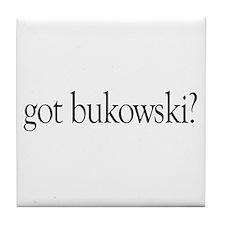 got bukowski? Tile Coaster