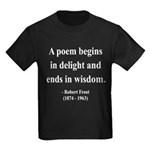 Robert Frost 11 Kids Dark T-Shirt