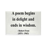 Robert Frost 11 Rectangle Magnet (100 pack)