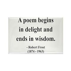 Robert Frost 11 Rectangle Magnet (100 pack)