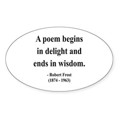 Robert Frost 11 Oval Decal