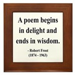 Robert Frost 11 Framed Tile