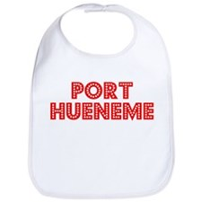 Retro Port Hueneme (Red) Bib