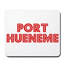 Retro Port Hueneme (Red) Mousepad