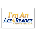 AceReader Sticker (Rectangle 10 pk)