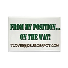 From My Position Rectangle Magnet (10 pack)