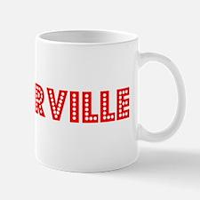 Retro Porterville (Red) Mug