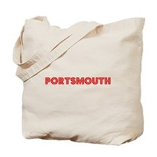 Retro Portsmouth (Red) Tote Bag