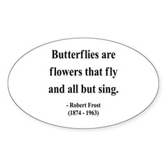 Robert Frost 10 Oval Decal