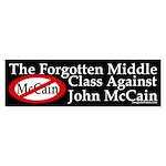 Middle Class Against McCain bumper sticker
