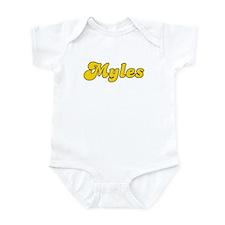 Retro Myles (Gold) Infant Bodysuit