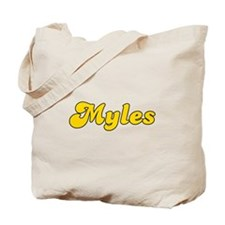 Retro Myles (Gold) Tote Bag