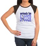 Seriously Fun Soccer Women's Cap Sleeve T-Shirt