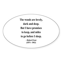 Robert Frost 9 Oval Decal