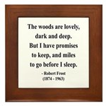 Robert Frost 9 Framed Tile