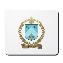 BOUCHER Family Crest Mousepad