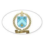 BOUCHER Family Crest Oval Sticker