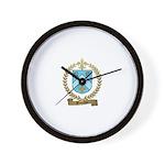 BOUCHER Family Crest Wall Clock