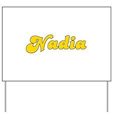 Retro Nadia (Gold) Yard Sign