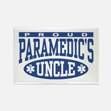 Proud Paramedic's Uncle Rectangle Magnet