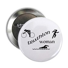 "Triathlon Woman 2.25"" Button"