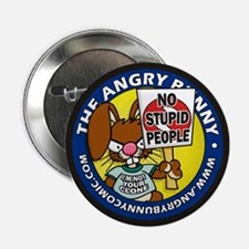 """The Angry Bunny 2.25"""" Button"""