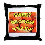 Sweet Georgia Peach Throw Pillow