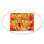 Sweet Georgia Peach Oval Sticker
