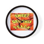 Sweet Georgia Peach Wall Clock