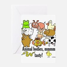 Cute Pig and chick Greeting Card