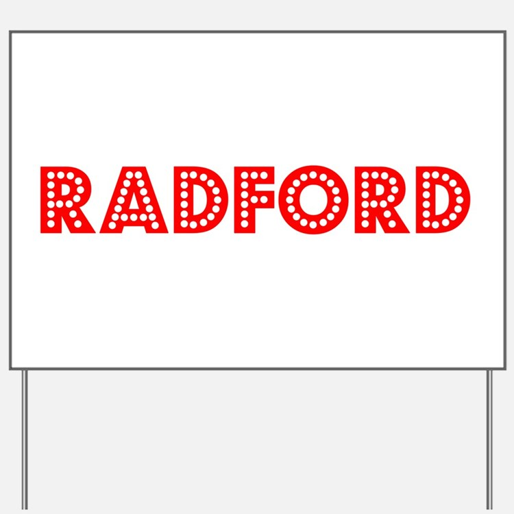 Retro Radford (Red) Yard Sign