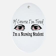 Nursing Student Oval Ornament